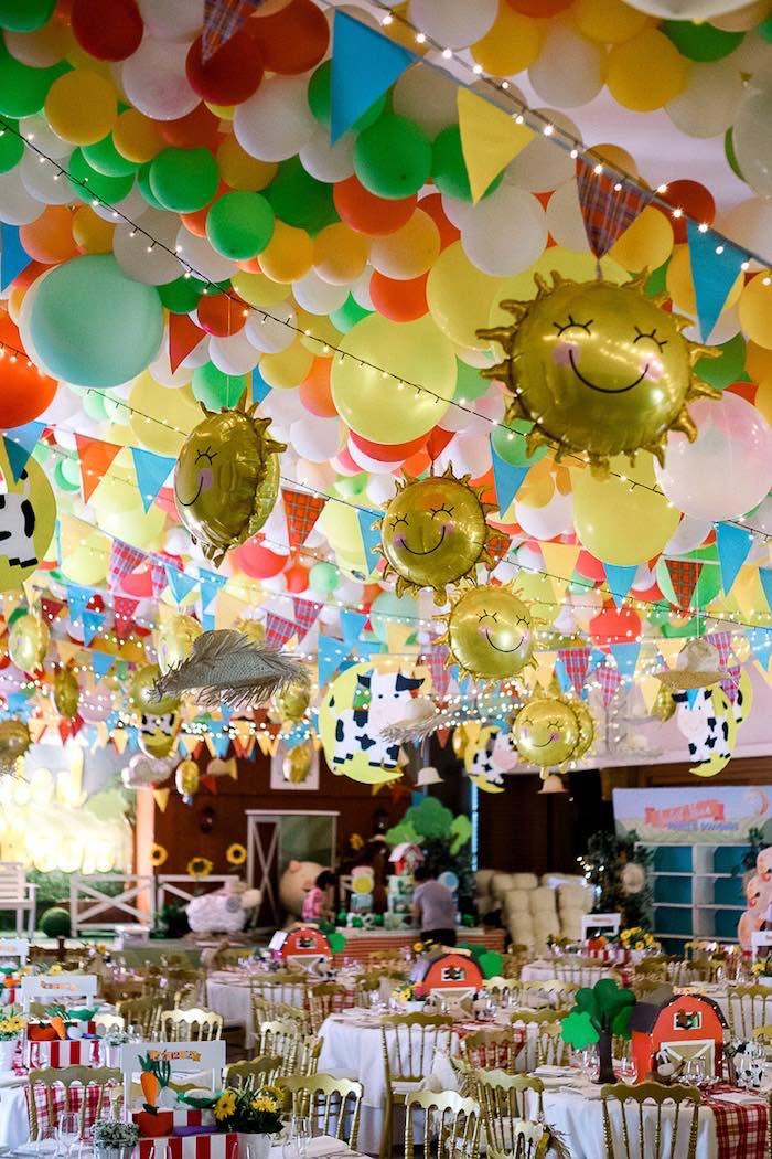 Farm Party Tables + Party Spread from a Farm Animal Birthday Party on Kara's Party Ideas   KarasPartyIdeas.com (18)
