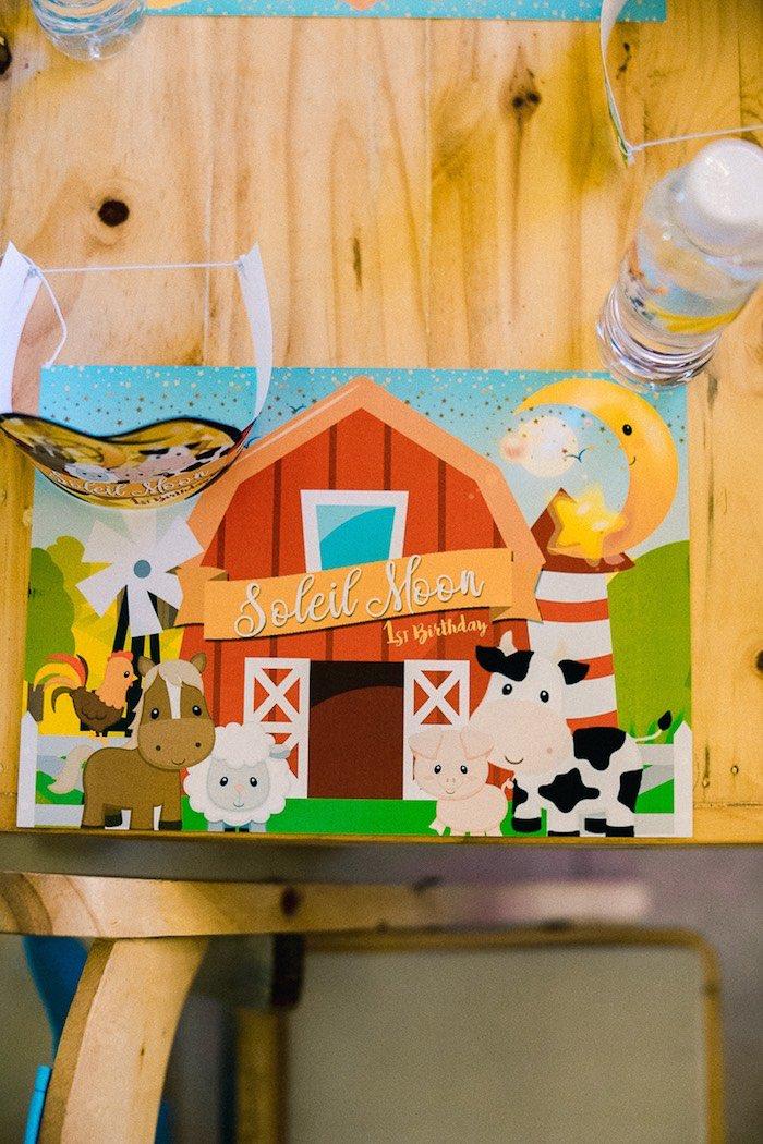Farm Yard Placemat + Table Setting from a Farm Animal Birthday Party on Kara's Party Ideas   KarasPartyIdeas.com (14)
