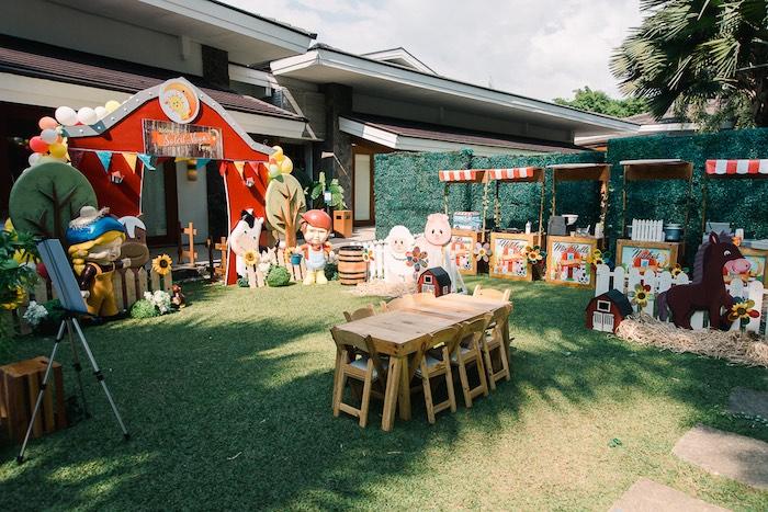 Farm Animal Birthday Party Spread on Kara's Party Ideas   KarasPartyIdeas.com (7)