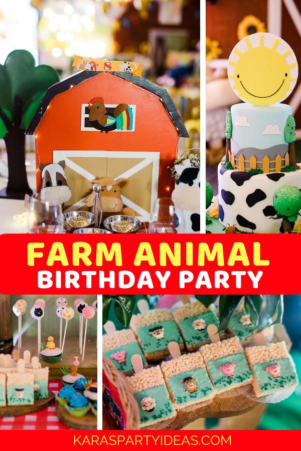 Farm Animal Birthday Party via Kara's Party Ideas - KarasPartyIdeas.com