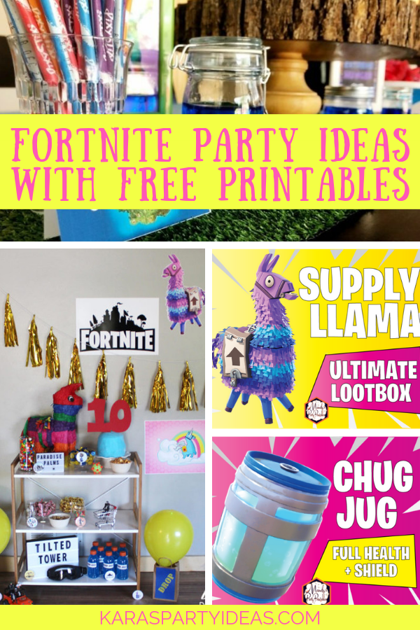 Fortnite Party Ideas via Kara's Party Ideas - KarasPartyIdeas.com