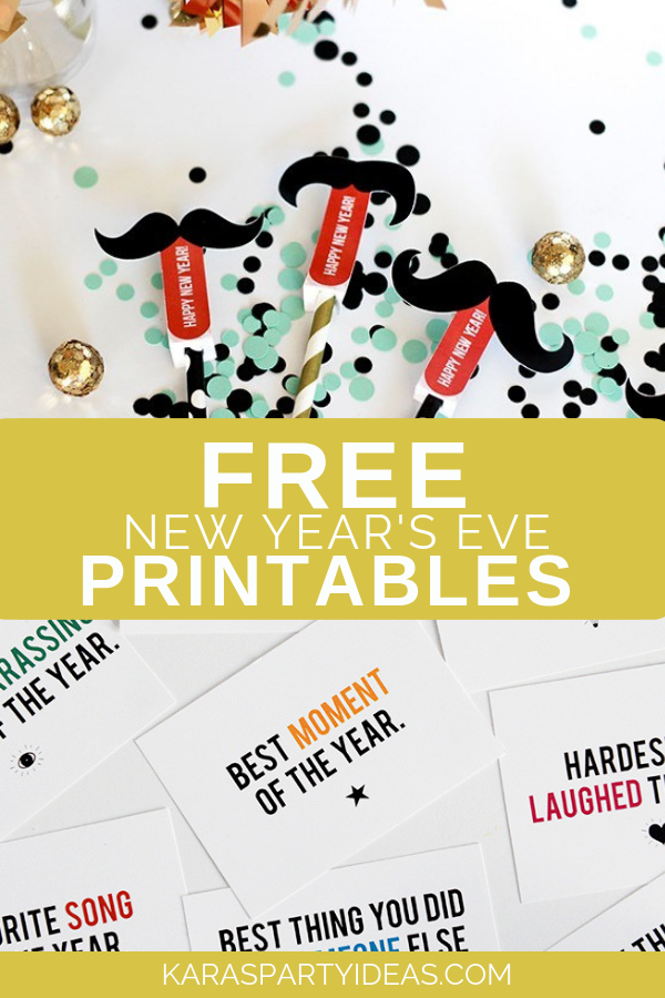 Free New Year's Eve Printables via Kara's Party Ideas - KarasPartyIdeas.com