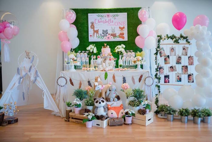 Girly Rustic Woodland Birthday Party on Kara's Party Ideas | KarasPartyIdeas.com (16)