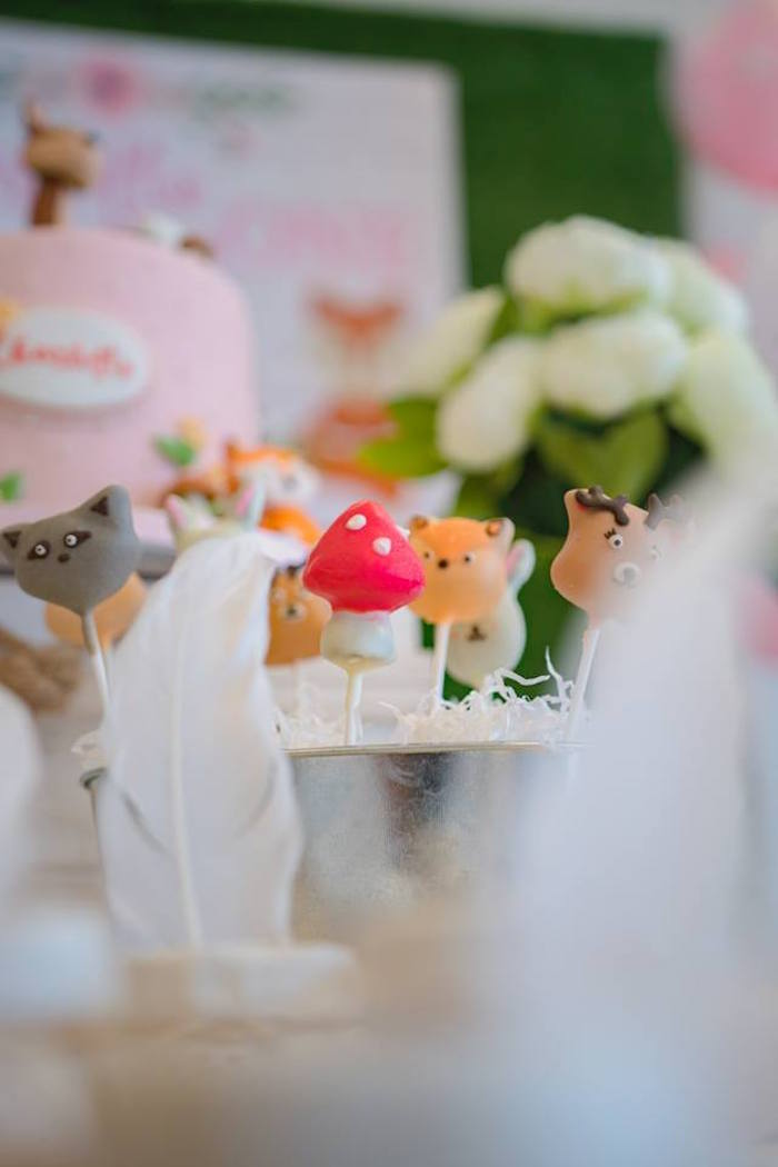 Woodland Cake Pops from a Girly Rustic Woodland Birthday Party on Kara's Party Ideas | KarasPartyIdeas.com (12)