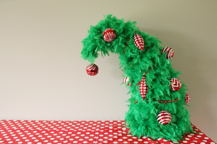 "Whoville Tree Ornaments from a ""Party Like a Grinch"" Christmas Party on Kara's Party Ideas 