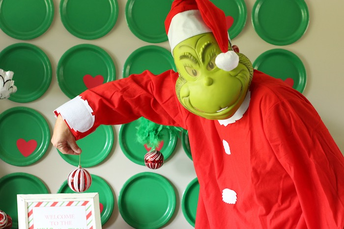 "Grinch from a ""Party Like a Grinch"" Christmas Party on Kara's Party Ideas 