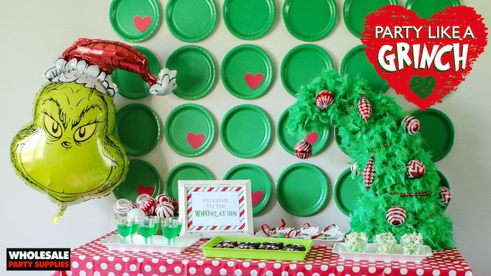 """Party Like a Grinch"" Christmas Party on Kara's Party Ideas 