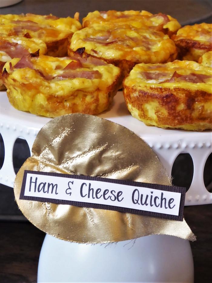 Ham & Cheese Quiche from a Rustic Fall Breakfast Bar on Kara's Party Ideas   KarasPartyIdeas.com