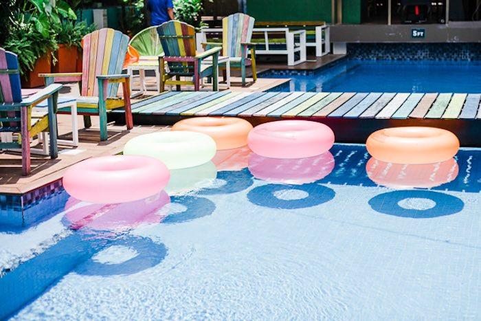 Pool from an Island Tropical Birthday Party on Kara's Party Ideas | KarasPartyIdeas.com (32)