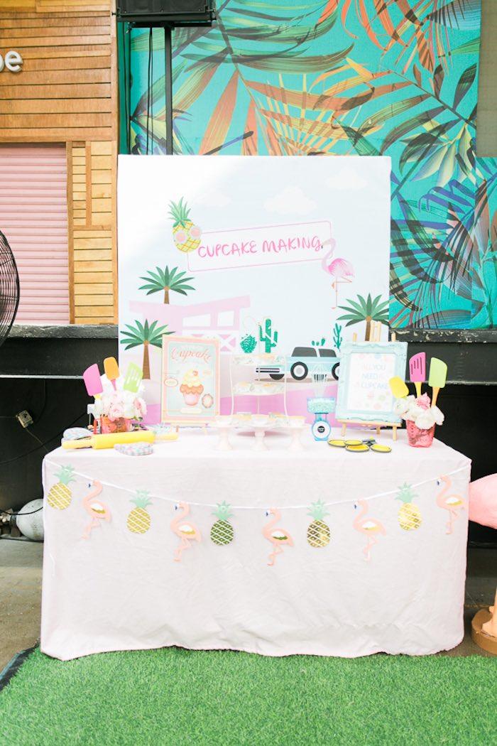 Island Dessert Table from an Island Tropical Birthday Party on Kara's Party Ideas | KarasPartyIdeas.com (28)
