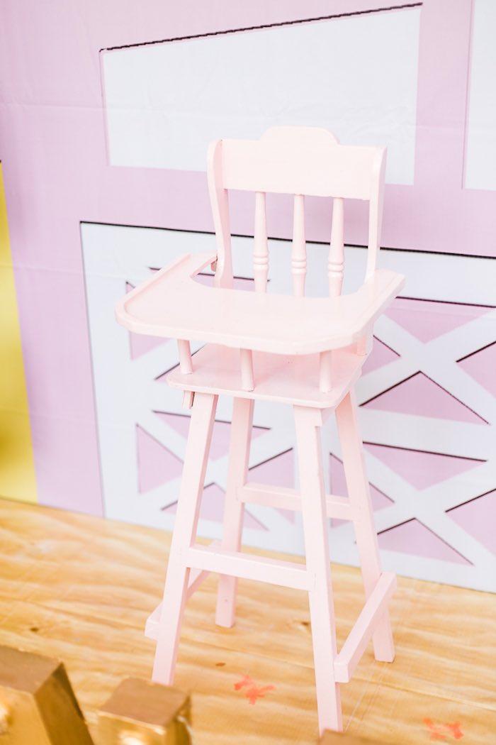 Pink Highchair from an Island Tropical Birthday Party on Kara's Party Ideas | KarasPartyIdeas.com (20)