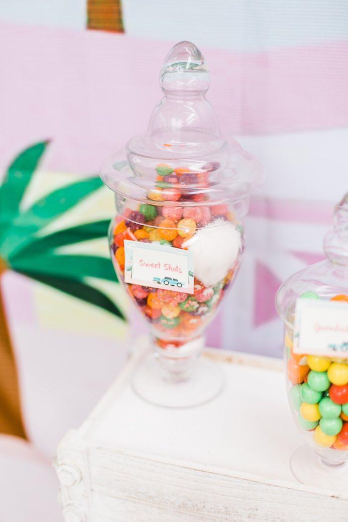 Candy Jars from an Island Tropical Birthday Party on Kara's Party Ideas | KarasPartyIdeas.com (19)