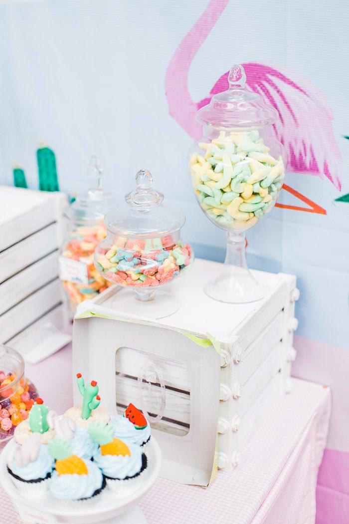 Sweet + Candy Buffet from an Island Tropical Birthday Party on Kara's Party Ideas | KarasPartyIdeas.com (16)