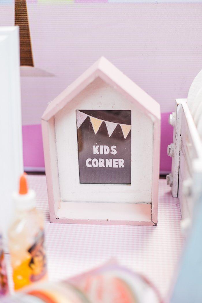 Kid's Corner from an Island Tropical Birthday Party on Kara's Party Ideas | KarasPartyIdeas.com (8)