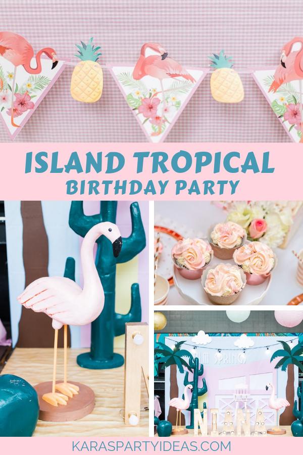 Island Tropical Birthday Party via Kara's Party Ideas - KarasPartyIdeas.com