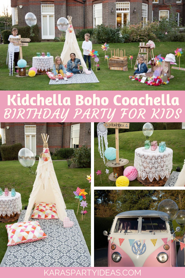 Kidchella Boho Coachella Birthday Party for Kids via Kara's Party Ideas - KarasPartyIdeas.com