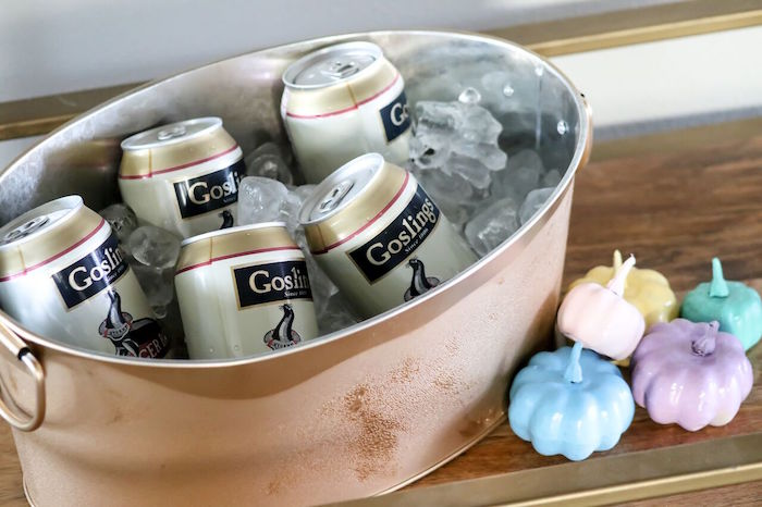 Copper Drink Bucket from a Little Pumpkin 1st Birthday Party on Kara's Party Ideas | KarasPartyIdeas.com (28)