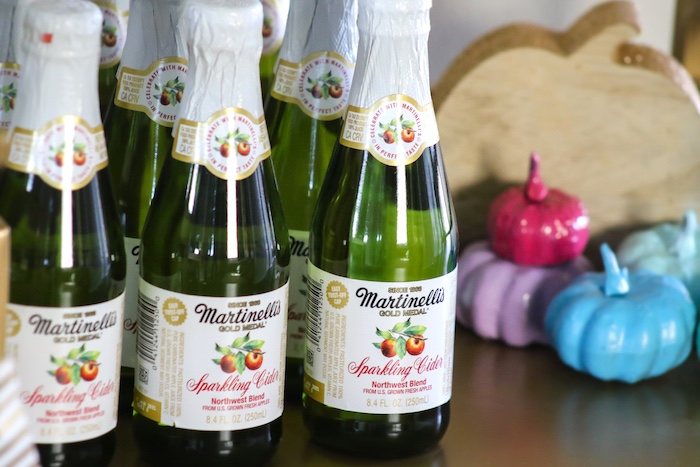 Mini Martinelli's from a Little Pumpkin 1st Birthday Party on Kara's Party Ideas | KarasPartyIdeas.com (26)