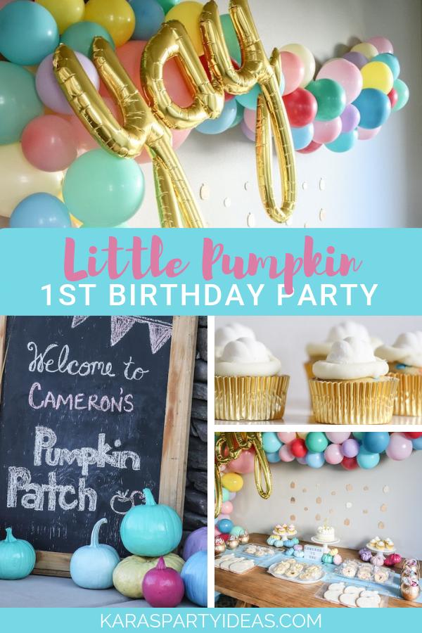 Little Pumpkin 1st Birthday Party via Kara's Party Ideas - KarasPartyIdeas.com