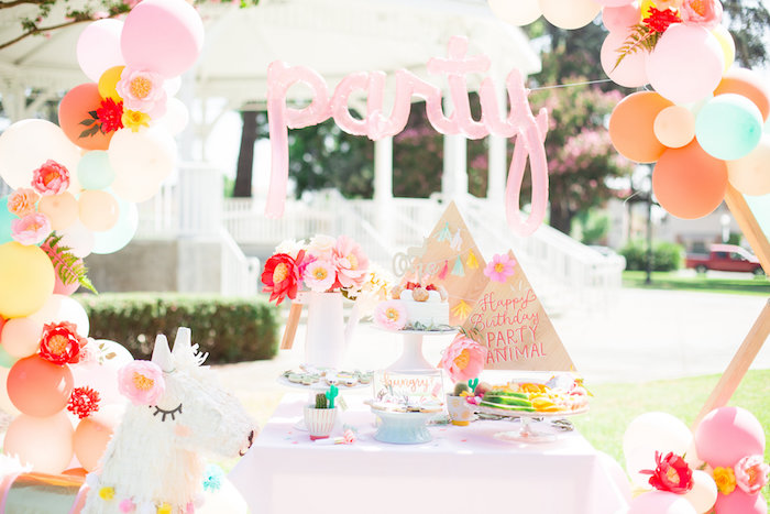 Party Animal Dessert Table from a Llama First Birthday Party on Kara's Party Ideas | KarasPartyIdeas.com (26)