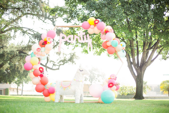 Llama Balloon Arch from a Llama First Birthday Party on Kara's Party Ideas | KarasPartyIdeas.com (39)