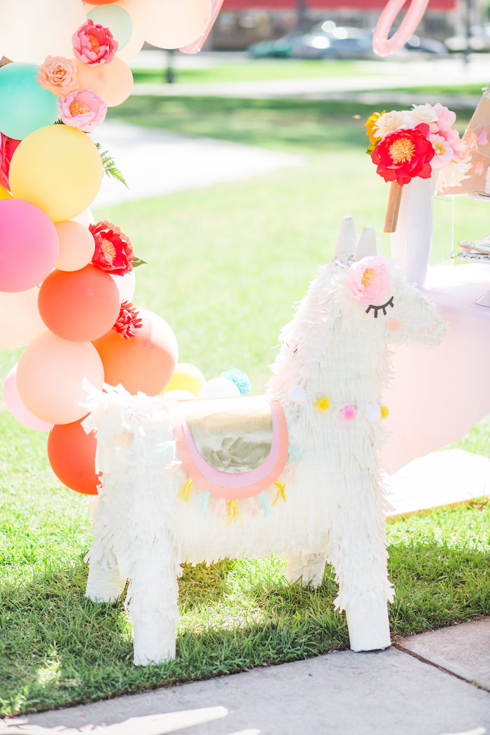 Llama Pinata from a Llama First Birthday Party on Kara's Party Ideas | KarasPartyIdeas.com (18)