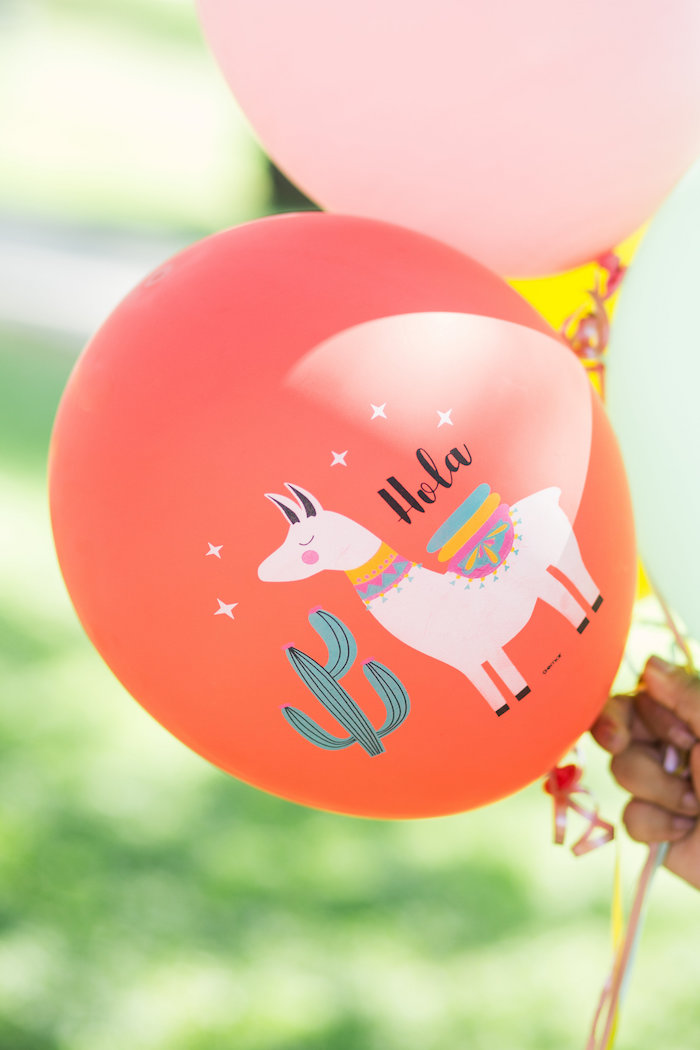 Llama Balloon from a Llama First Birthday Party on Kara's Party Ideas | KarasPartyIdeas.com (5)