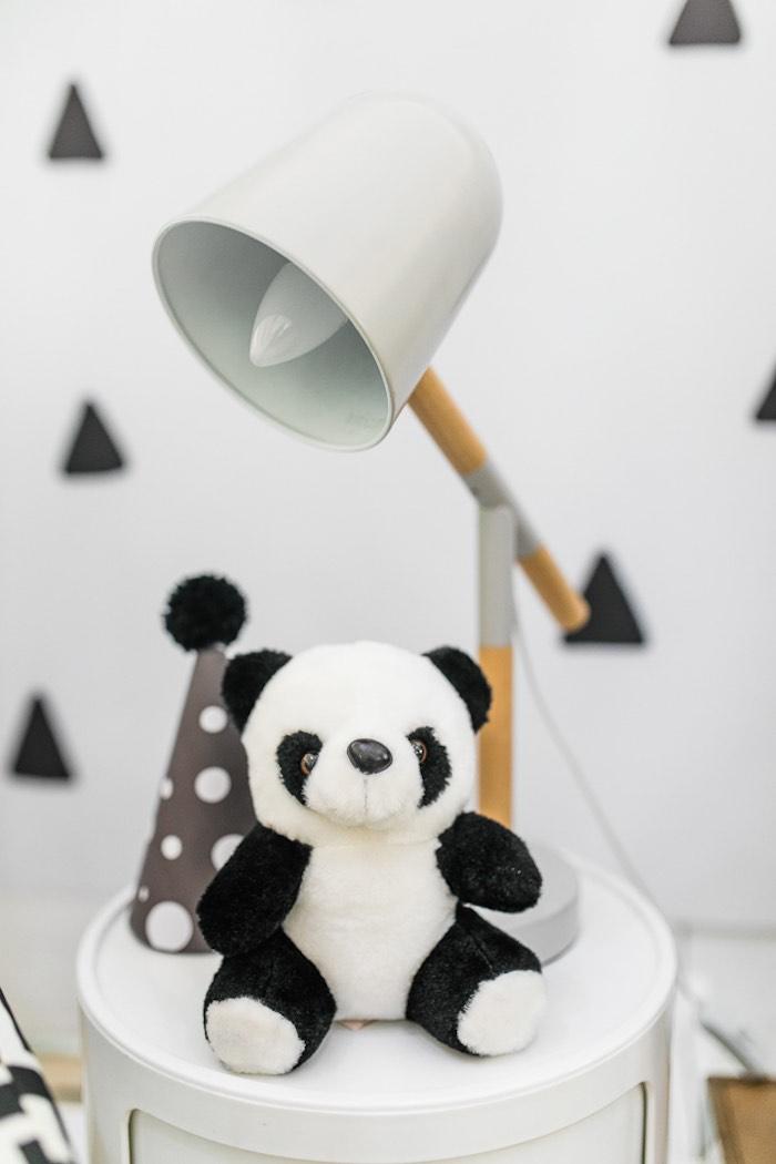 Panda Bear Plush from a Minimal Scandinavian Inspired Panda Birthday Party on Kara's Party Ideas | KarasPartyIdeas.com (13)