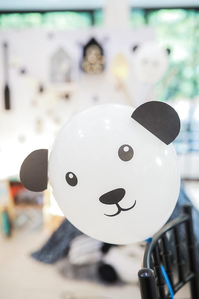 Panda Bear Balloon from a Minimal Scandinavian Inspired Panda Birthday Party on Kara's Party Ideas | KarasPartyIdeas.com (8)