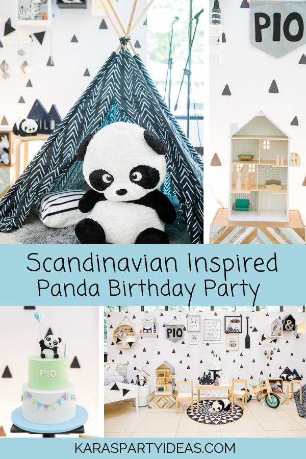 Minimal Scandinavian Inspired Panda Birthday Party via Kara's Party Ideas - KarasPartyIdeas.com