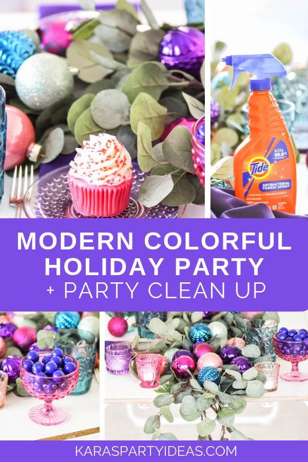 Modern Colorful Party + Cleanup Party via Kara's Party Ideas - KarasPartyIdeas.com