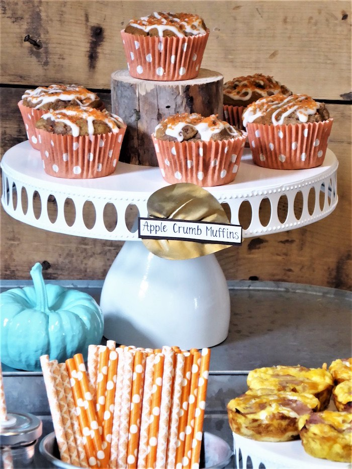 Muffins from a Rustic Fall Breakfast Bar on Kara's Party Ideas | KarasPartyIdeas.com