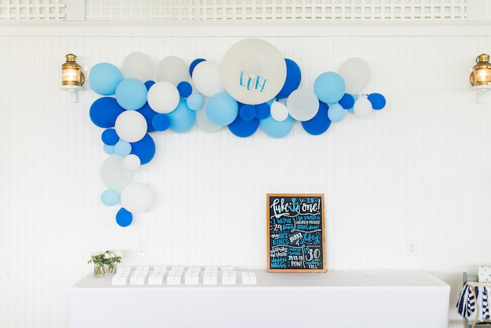 Highlight Table from a Nautical 1st Birthday Party on Kara's Party Ideas | KarasPartyIdeas.com (30)