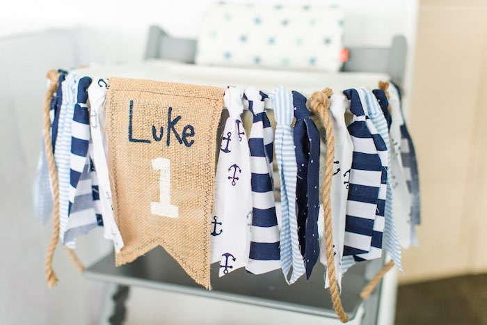 Nautical Highchair Banner from a Nautical 1st Birthday Party on Kara's Party Ideas | KarasPartyIdeas.com (26)