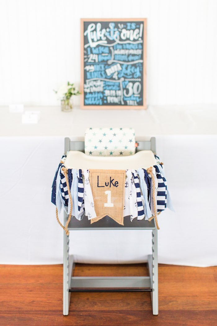 Nautical Highchair Banner from a Nautical 1st Birthday Party on Kara's Party Ideas | KarasPartyIdeas.com (25)