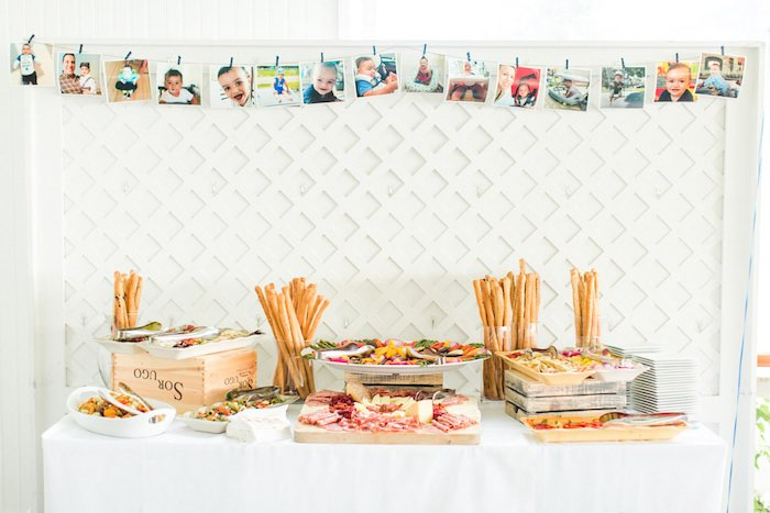 Food Table from a Nautical 1st Birthday Party on Kara's Party Ideas | KarasPartyIdeas.com (22)