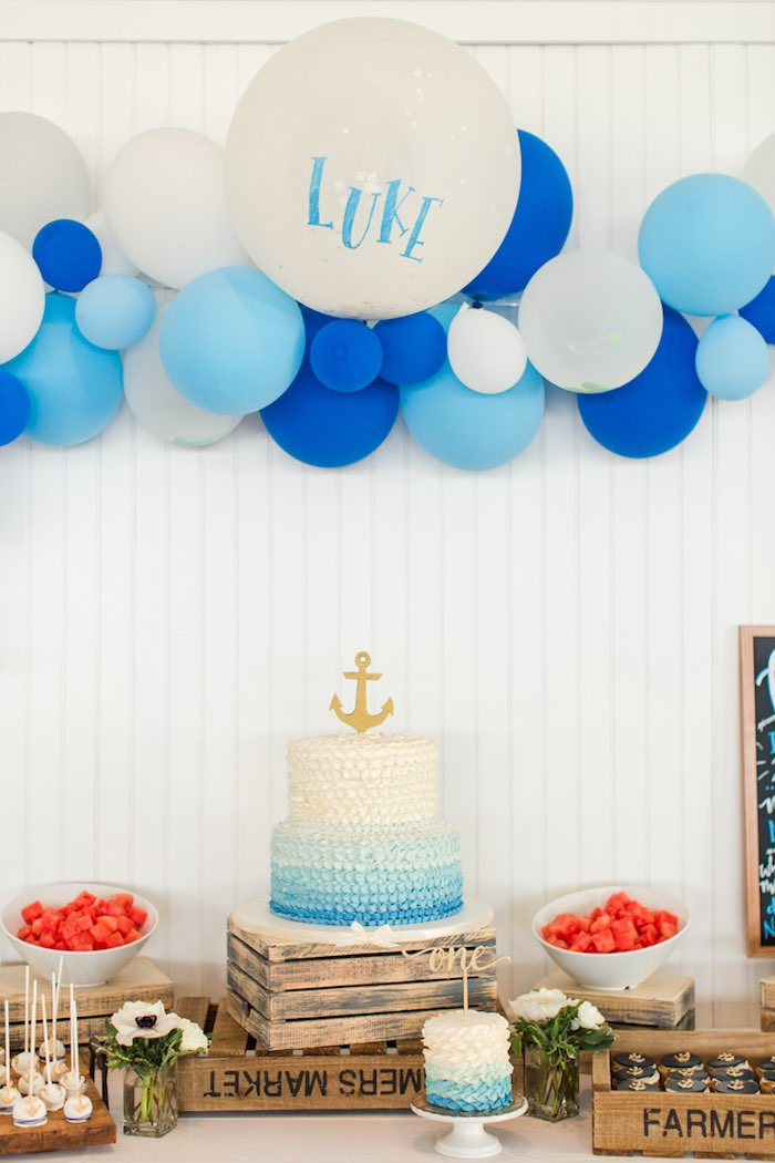 Nautical 1st Birthday Party on Kara's Party Ideas | KarasPartyIdeas.com (16)