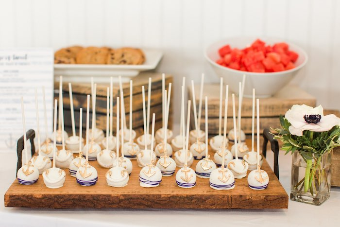 Nautical Cake Pops from a Nautical 1st Birthday Party on Kara's Party Ideas | KarasPartyIdeas.com (12)