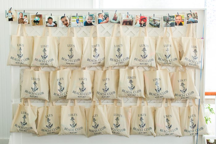 Nautical Gift Bags from a Nautical 1st Birthday Party on Kara's Party Ideas | KarasPartyIdeas.com (5)