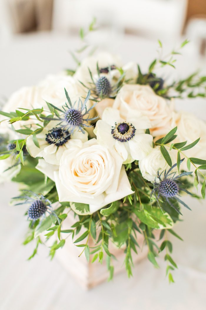 Nautical-inspired Blooms from a Nautical 1st Birthday Party on Kara's Party Ideas | KarasPartyIdeas.com (32)