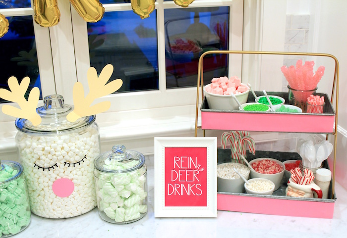 Reindeer Drink Station from an OH DEER Christmas Party on Kara's Party Ideas | KarasPartyIdeas.com (27)