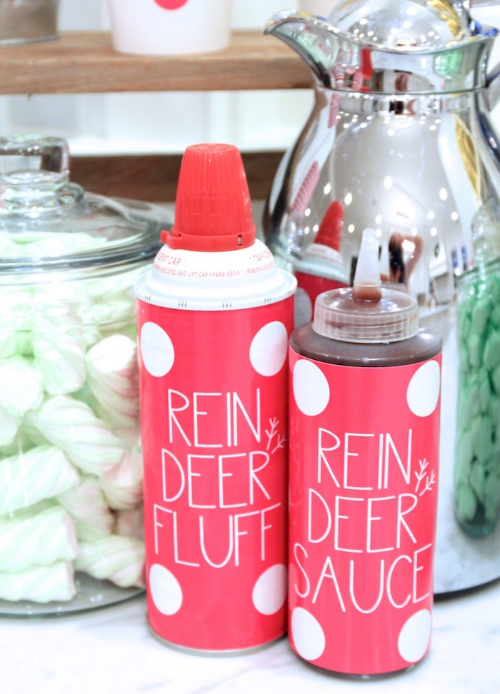 Reindeer Fluff - Whipping Cream & Sauce from an OH DEER Christmas Party on Kara's Party Ideas | KarasPartyIdeas.com (25)