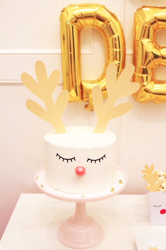 Reindeer Cake from an OH DEER Christmas Party on Kara's Party Ideas | KarasPartyIdeas.com (23)