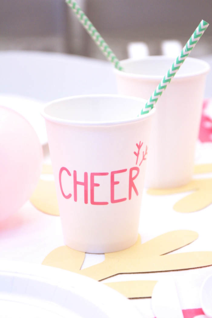 Cheer Reindeer Cup from an OH DEER Christmas Party on Kara's Party Ideas | KarasPartyIdeas.com (21)