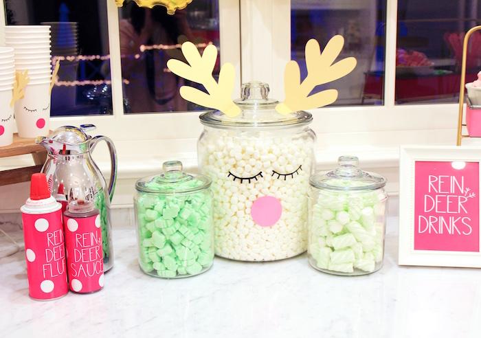 Reindeer Drink Bar from an OH DEER Christmas Party on Kara's Party Ideas | KarasPartyIdeas.com (19)