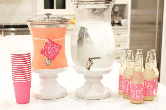 Beverage Table from an OH DEER Christmas Party on Kara's Party Ideas | KarasPartyIdeas.com (17)