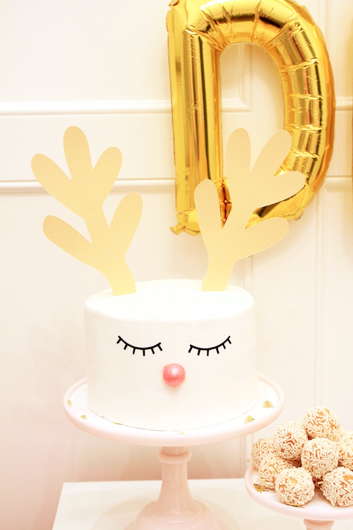 Reindeer Cake from an OH DEER Christmas Party on Kara's Party Ideas | KarasPartyIdeas.com (13)