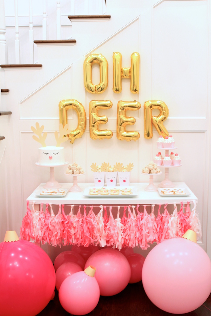 Deer Themed Dessert Table from an OH DEER Christmas Party on Kara's Party Ideas | KarasPartyIdeas.com (11)