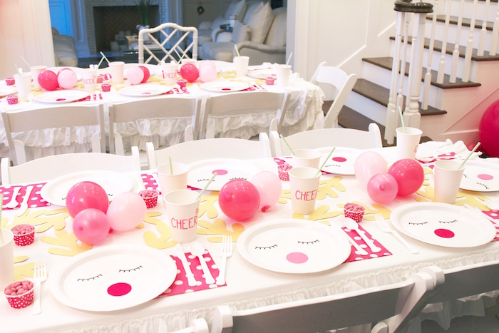 Reindeer Themed Guest Tables from an OH DEER Christmas Party on Kara's Party Ideas | KarasPartyIdeas.com (33)