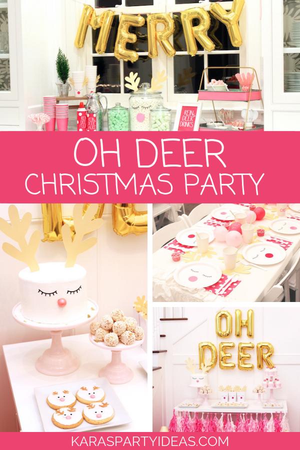 OH DEER Christmas Party via Kara's Party Ideas - KarasPartyIdeas.com